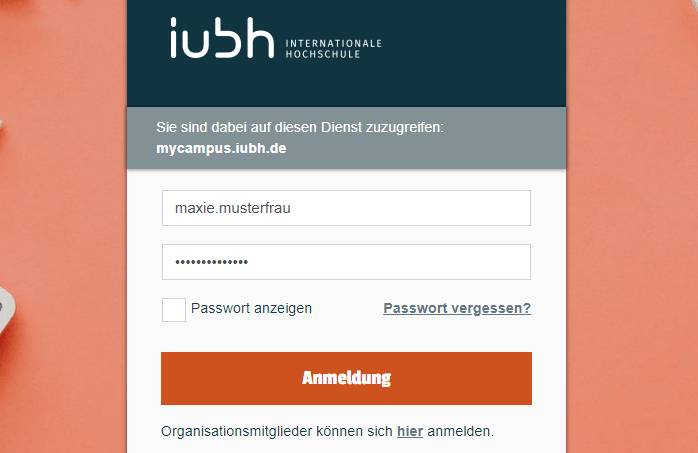 IUBH myCampus Login