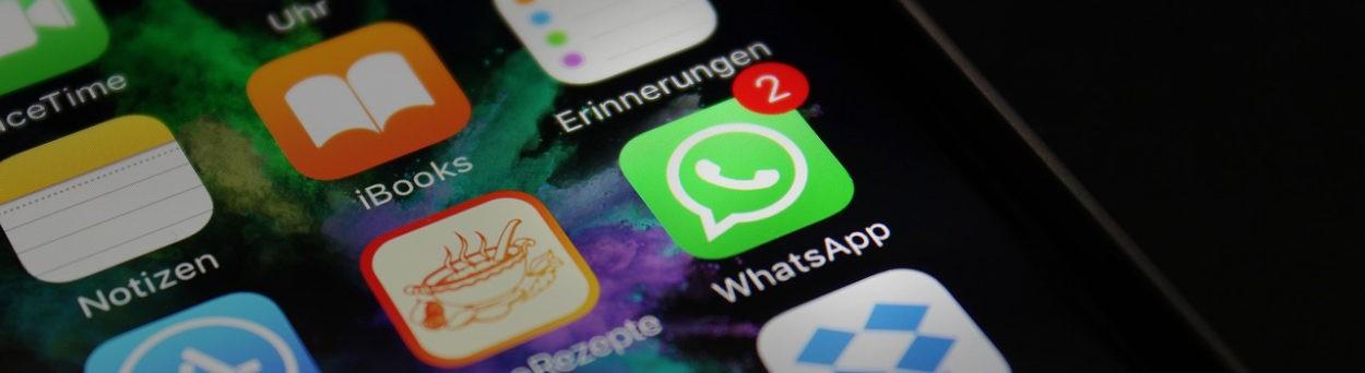 Austausch über soziale Netzwerke